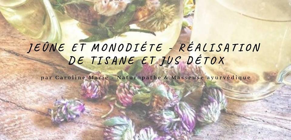 Samedi 16 mars de 16h à 18h – Atelier Jeûne et Monodiète – Réalisation de tisane et jus détox.