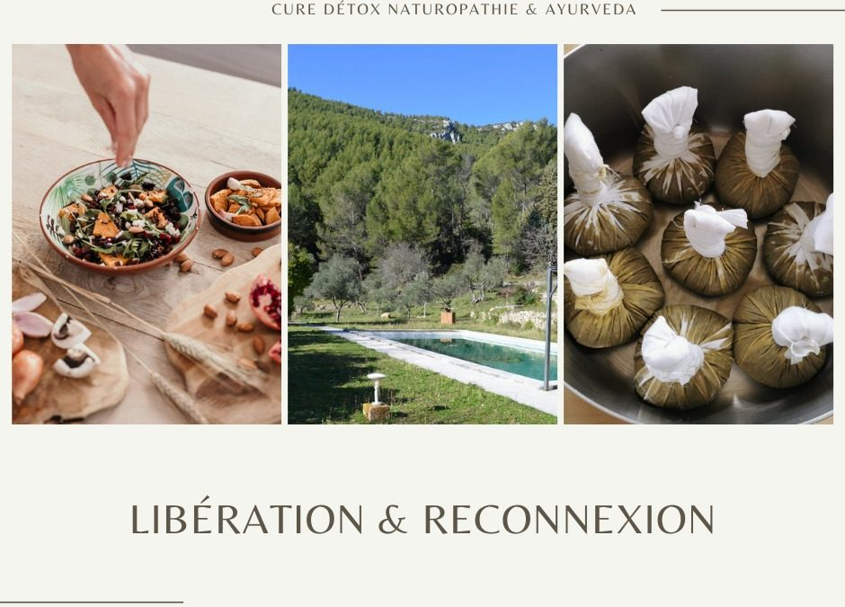 Libération et Reconnexion – 27 juin au 2 juillet 2021 – Organisée par Audrey Nicolas et Caroline Marie – Naturopathes certifiées Fena.